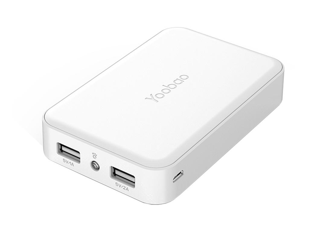 Аккумулятор Yoobao M5 10000 mAh White аккумулятор yoobao 15600 mah yb 6017 pink