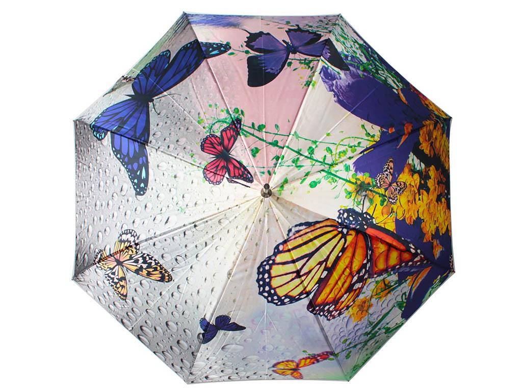 Зонт Flioraj Пробуждение бабочки, цветы 051109 FJ