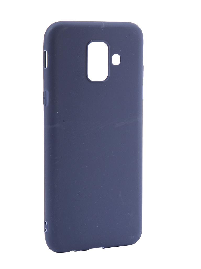 Аксессуар Чехол LuxCase TPU для Samsung Galaxy A6 Blue 62031