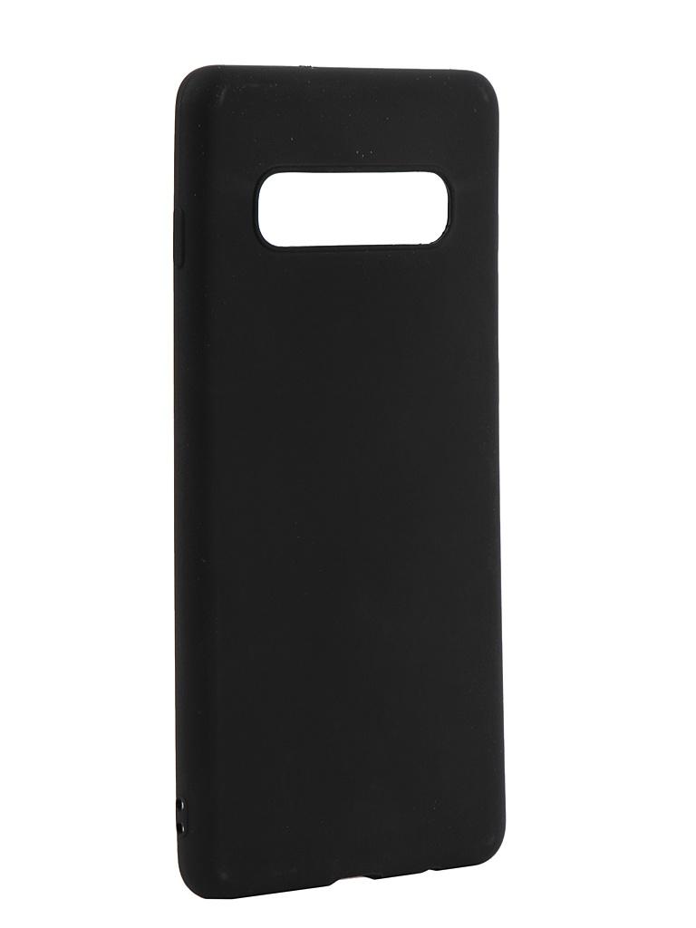 Аксессуар Чехол LuxCase TPU для Samsung Galaxy S10 G975 Black 62044 аксессуар чехол samsung j3 2017 j330f zibelino clear view black zcv sam j330 blk