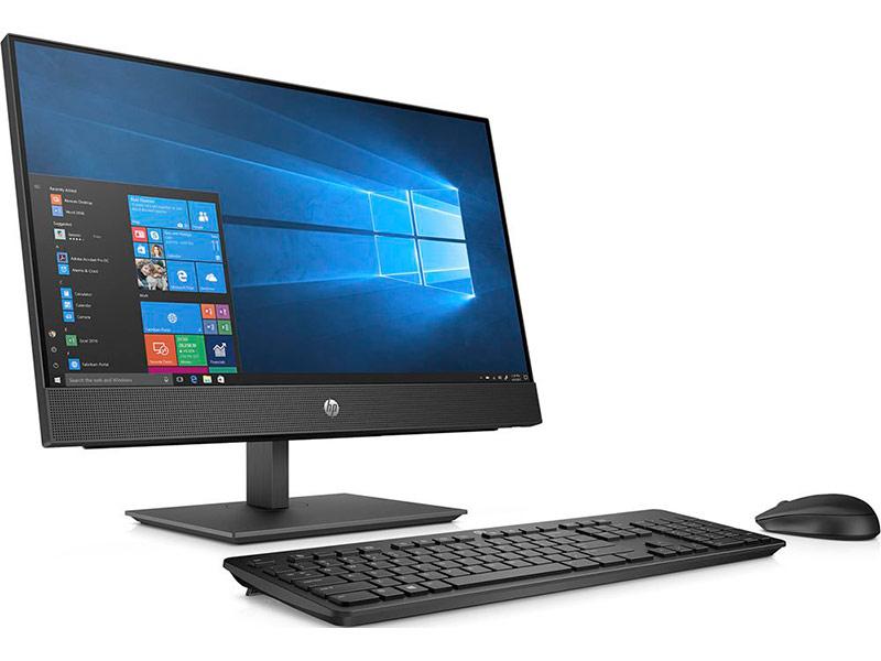 купить Моноблок HP ProOne 400 G4 Black 5BL83ES (Intel Pentium G5400T 3.1 GHz/4096Mb/500Gb/DVD-RW/Intel HD Graphics/Wi-Fi/Bluetooth/Cam/20.0/1600x900/Windows 10 Home 64-bit) по цене 30685 рублей