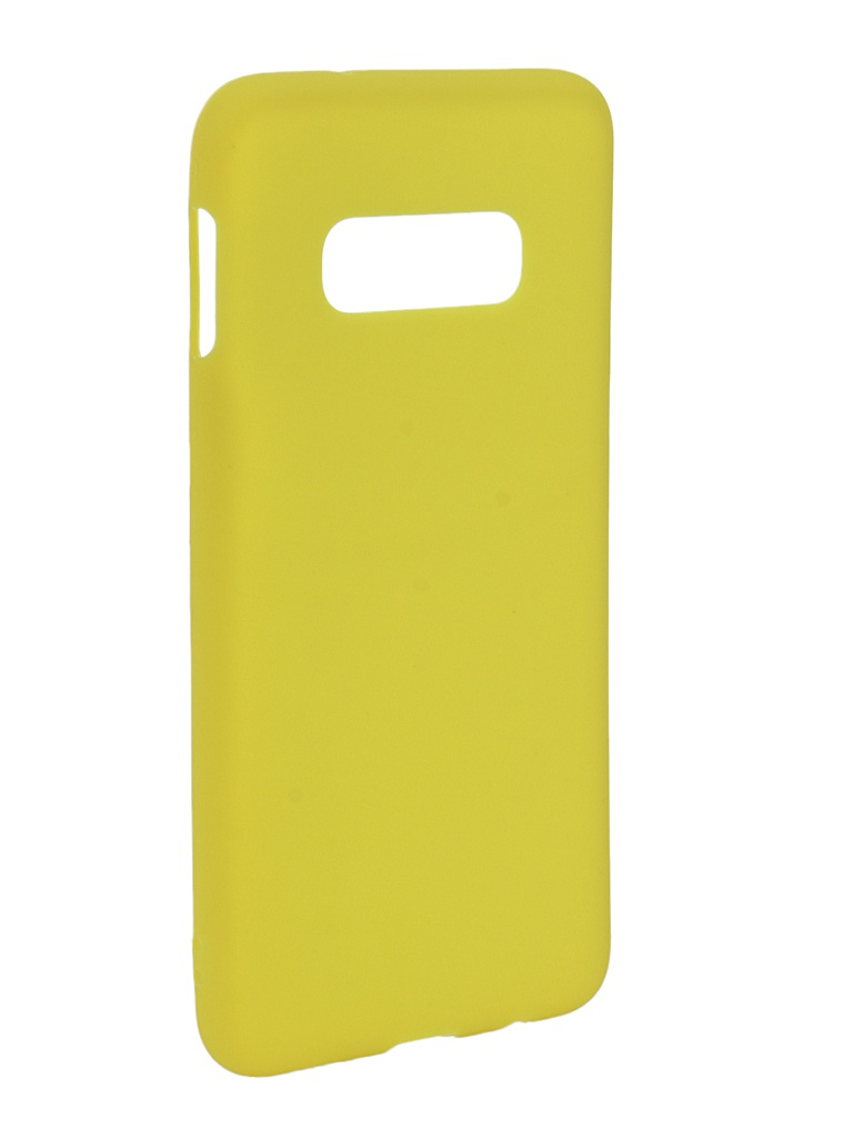 Аксессуар Чехол Zibelino для Samsung Galaxy S10E 2019 Soft Matte Yellow ZSM-SAM-S10-LT-YEL аксессуар чехол zibelino для samsung galaxy j2 core j260f 2018 soft matte yellow zsm sam j260f yel