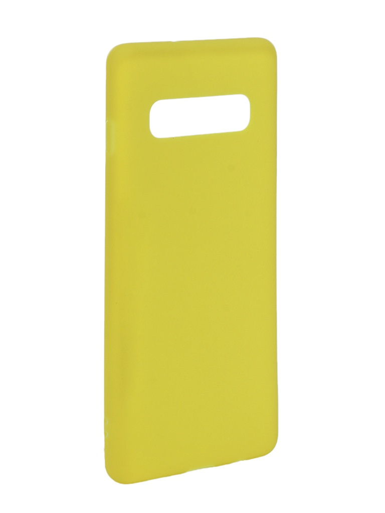 Чехол для Samsung Galaxy S10 Plus 2019 Zibelino Soft Matte Yellow ZSM-SAM-S10-PL-YEL