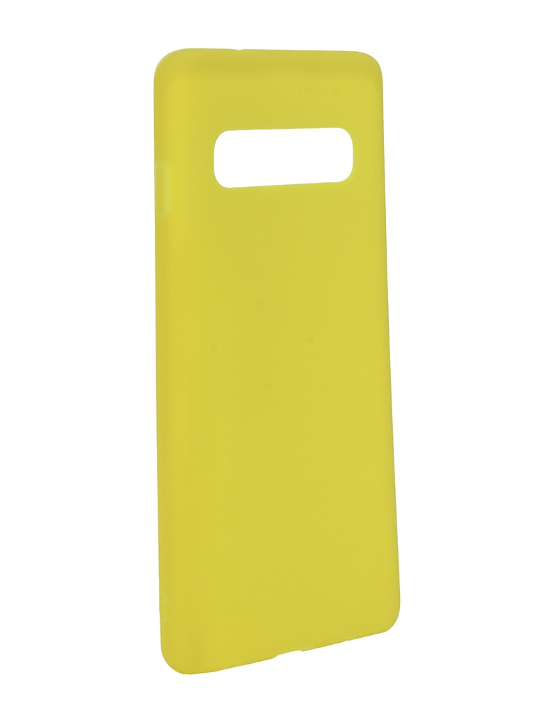 Аксессуар Чехол Zibelino для Samsung Galaxy S10 2019 Soft Matte Yellow ZSM-SAM-S10-YEL