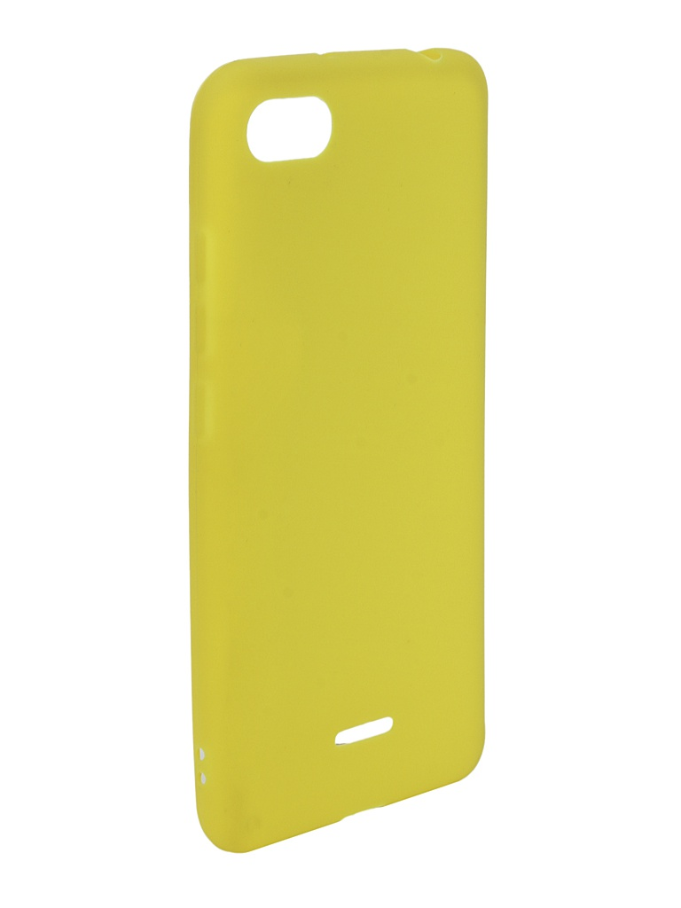 Аксессуар Чехол Zibelino для Xiaomi Redmi 6A Soft Matte Yellow ZSM-XIA-6A-YEL