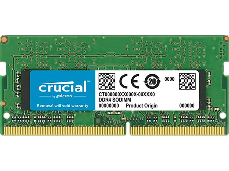 Модуль памяти Crucial DDR4 SO-DIMM 2666MHz PC4-21300 CL19 - 4Gb CT4G4SFS8266