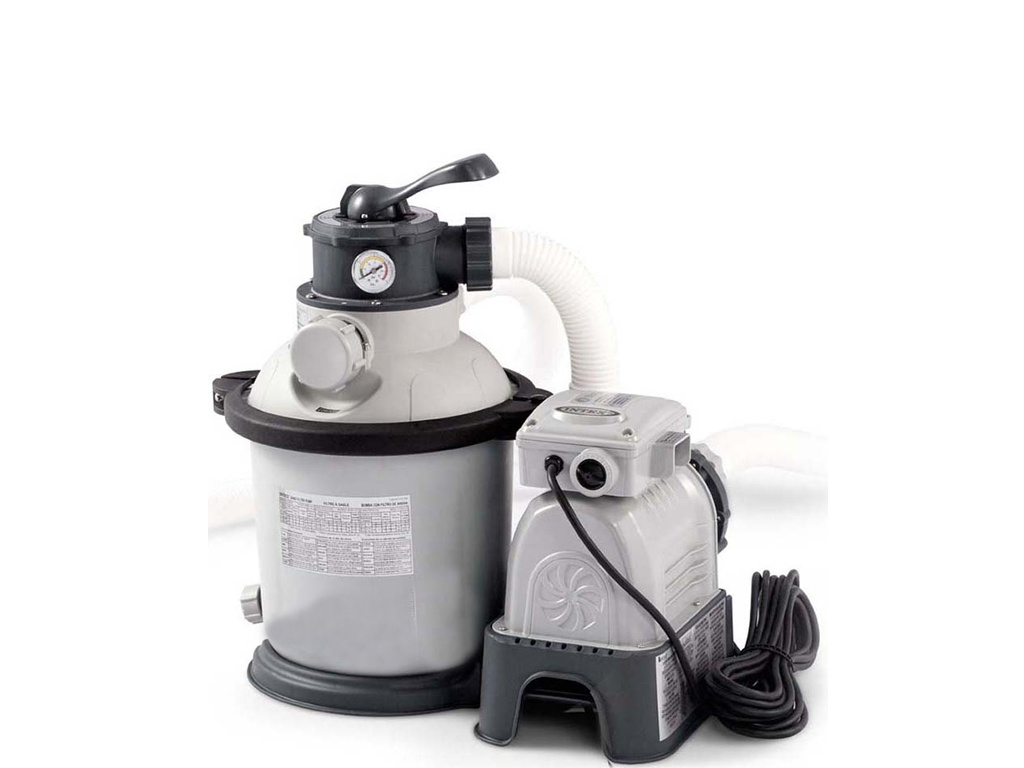 Песочный фильтрующий насос Intex 4000 л/ч 26644 песочный фильтрующий насос intex krystal clear 8000л ч 26648