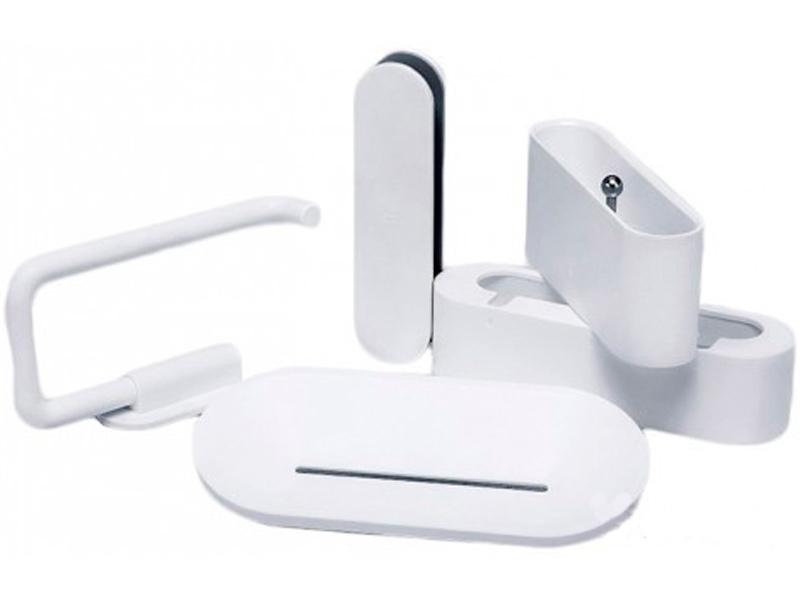 Набор настенных держателей для ванны Xiaomi Happy Life Bathroom Set 5шт White