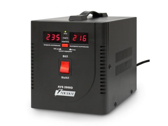 Стабилизатор PowerMan AVS 2000 D Black