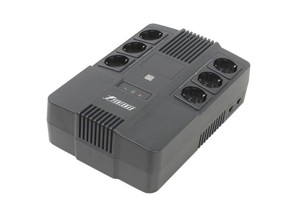 Источник бесперебойного питания PowerMan UPS Brick 600 источник бесперебойного питания gateway sent ups 360w 220v
