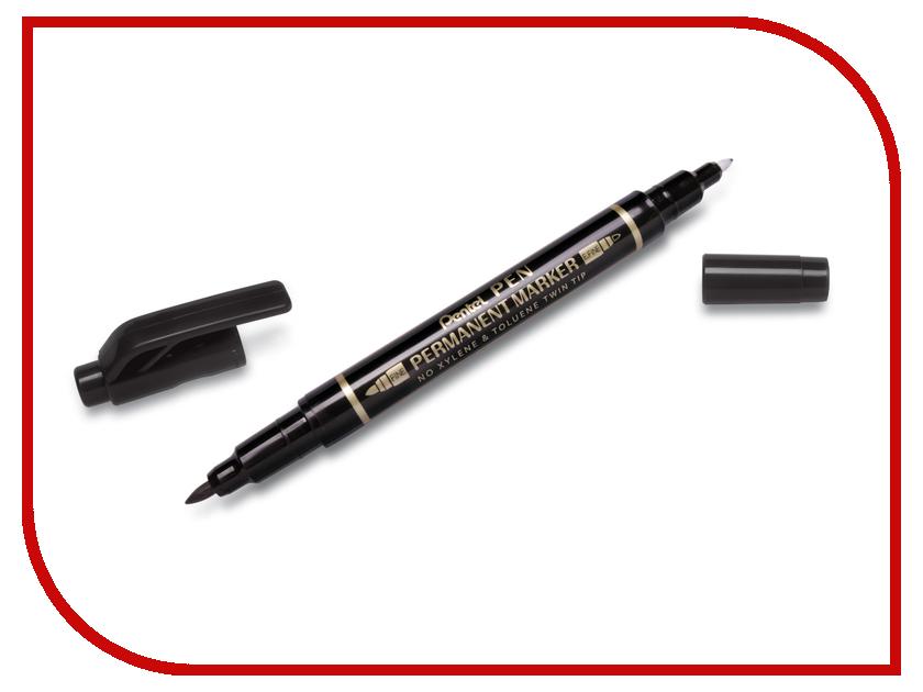 Купить Маркер Pentel Pen Twin Tip New 0.3-0.6/0.8-1.2mm Black N75W-A, Япония