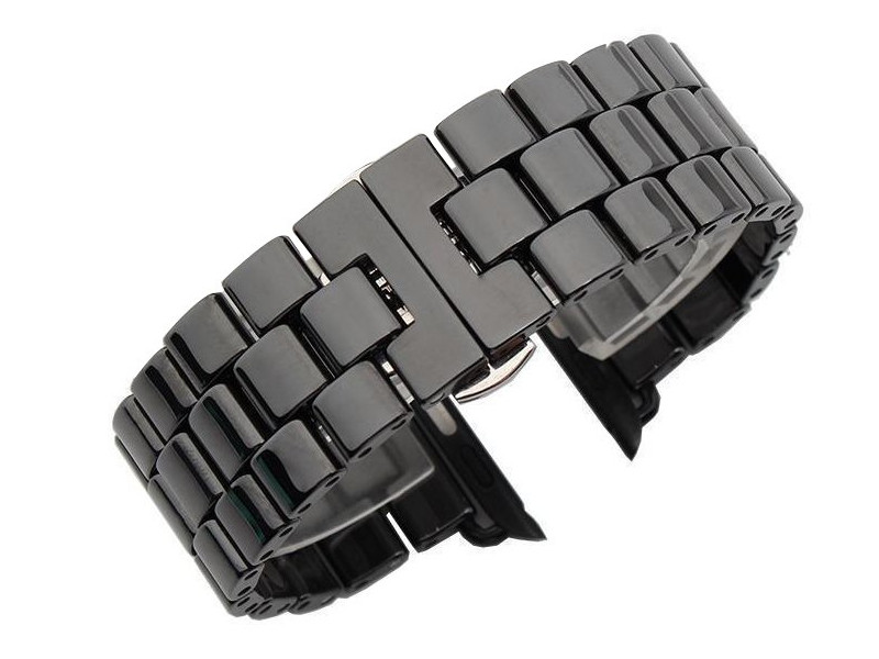 Аксессуар Ремешок Activ для APPLE Watch 38/40mm Ceramics Black 95933 аксессуар