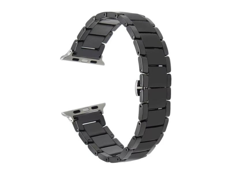 Аксессуар Ремешок Activ для APPLE Watch 38/40mm Ceramics Black 95930 стоимость