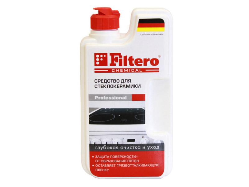 Средство для стеклокерамики Filtero Глубокая очистка и уход c силиконом 250ml 202