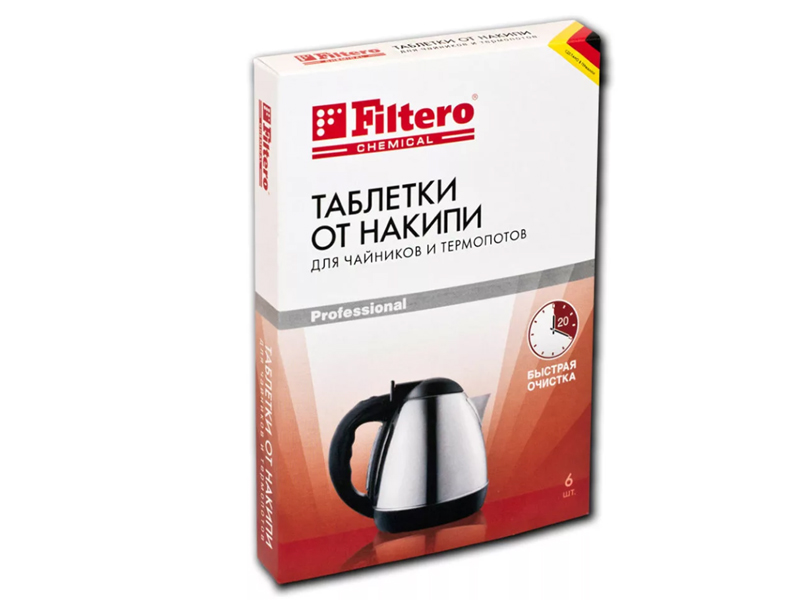 лучшая цена Аксессуар Таблетки от накипи для чайников и термопотов Filtero 604