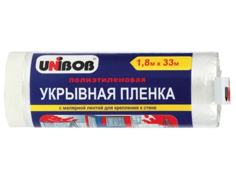 Пленка укрывная с малярной лентой Unibob 1.8mm x 33m 49695