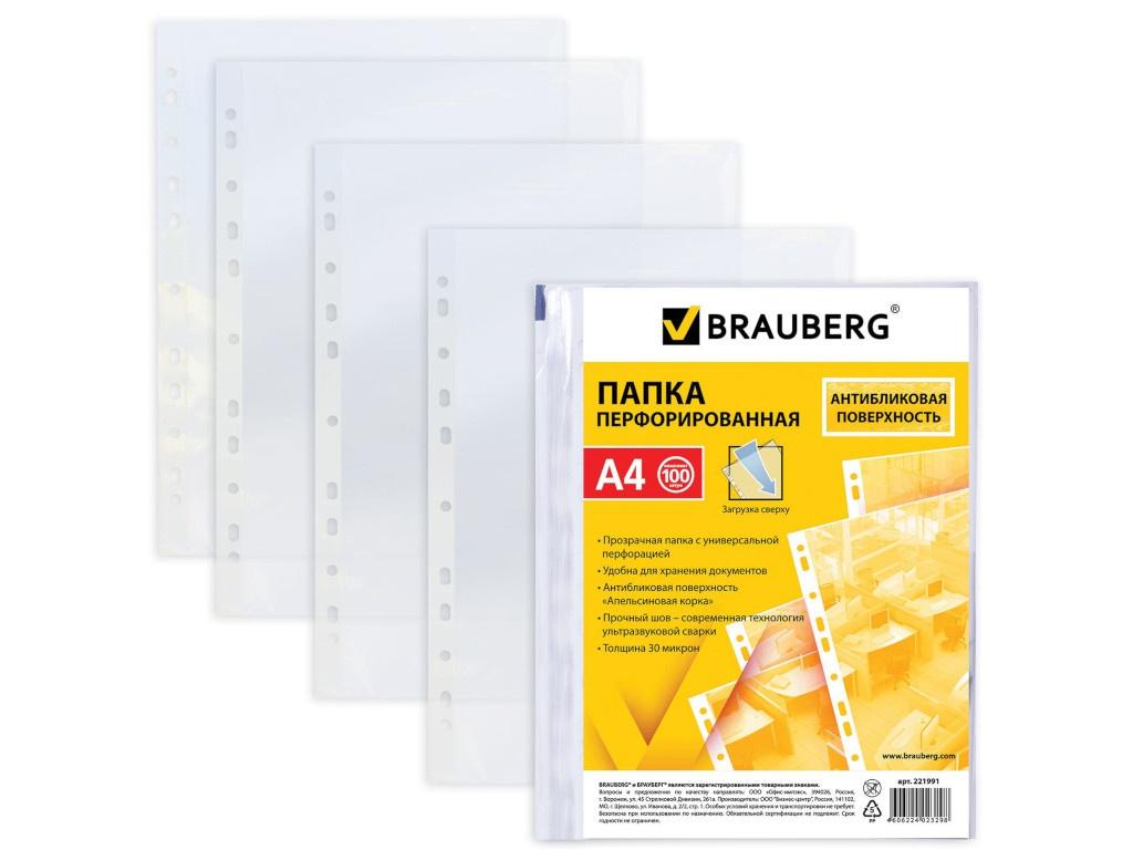 Папка Brauberg А4 100шт 221991