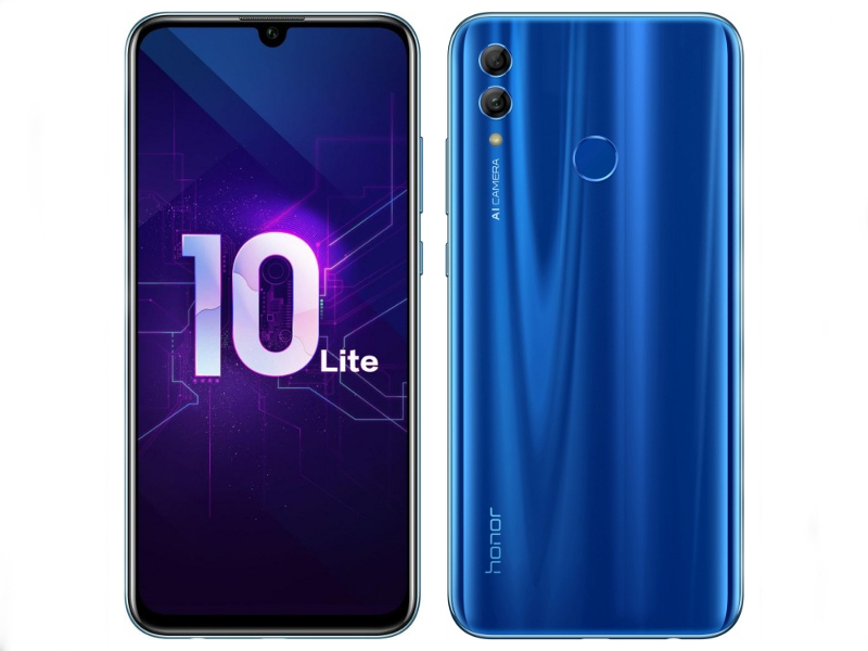 Сотовый телефон Honor 10 Lite 3/64Gb Blue New Выгодный набор + серт. 200Р!!!