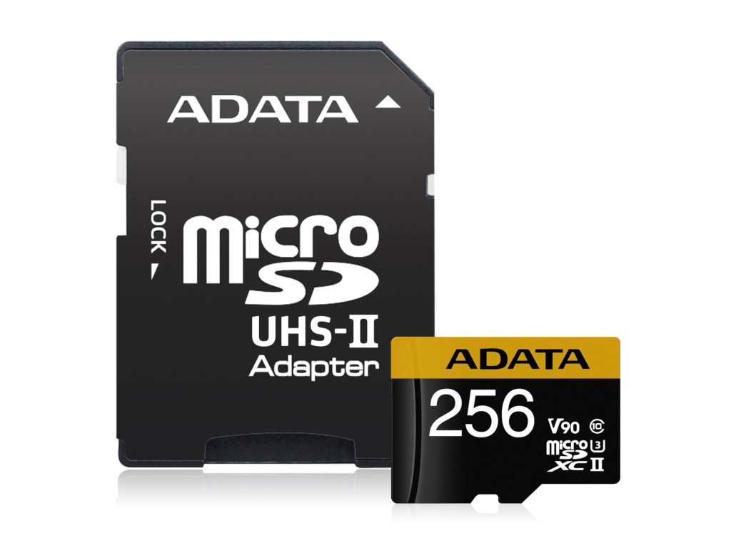Карта памяти 256Gb - A-Data MicroSD Premier ONE microSDXC AUSDX256GUII3CL10-CA1