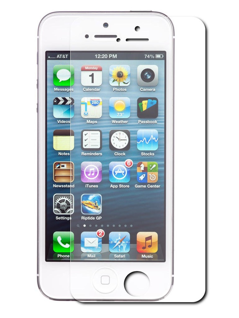 Аксессуар Защитное стекло Krutoff для APPLE iPhone 5 / 5S 0.26mm 20347