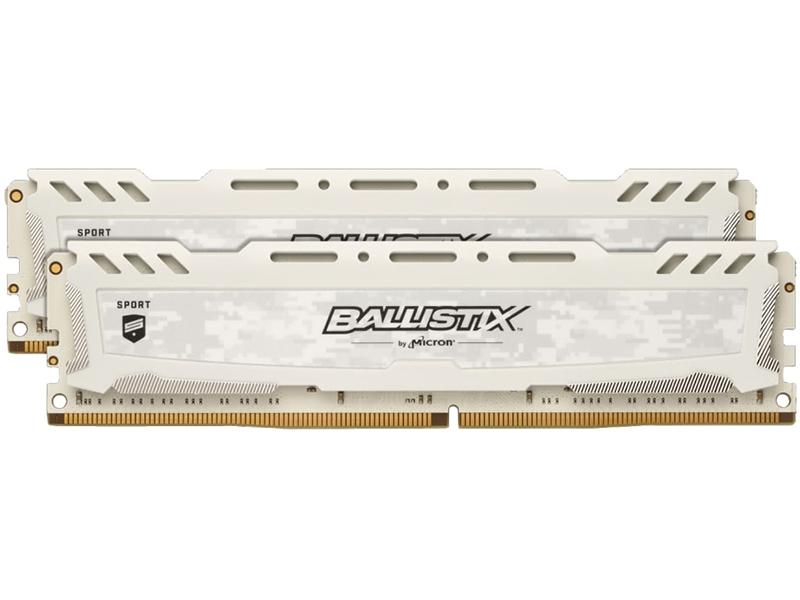 Модуль памяти Crucial Ballistix Sport White LT DDR4 DIMM 3000MHz PC4-24000 CL15 - 32Gb KIT (2x16Gb) BLS2K16G4D30AESC