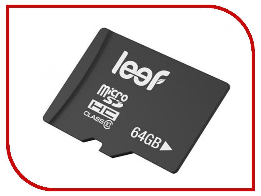 Карта памяти 64Gb - Leef Micro Secure Digital XC Class 10 LFMSD-06410R