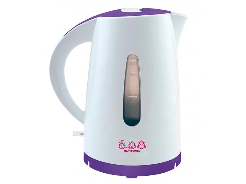 Чайник Мастерица ЕК 1,7-01Р Elbet White-Purple чайник мастерица эч 0 5 0 5 220з green