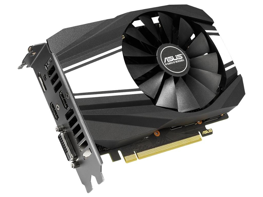 Видеокарта ASUS GeForce GTX 1660 Ti Phoenix 1500Mhz PCI-E 3.0 6144Mb 12002Mhz 192 bit DP 2xHDMI DVI PH-GTX1660TI-6G asus asus geforce gtx 1080 1632mhz pci e 3 0 8192mb 10010mhz 256 bit dvi 2xhdmi hdcp