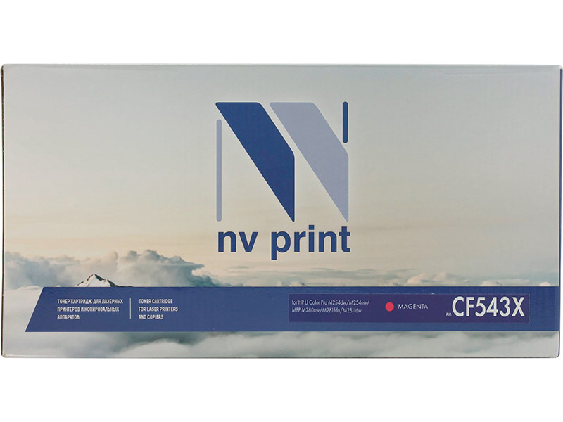 цена на Картридж NV Print NV-CF543X Magenta для HP Color LaserJet Pro M254dw/M254nw/MFP M280nw/M281fdn/M281fdw