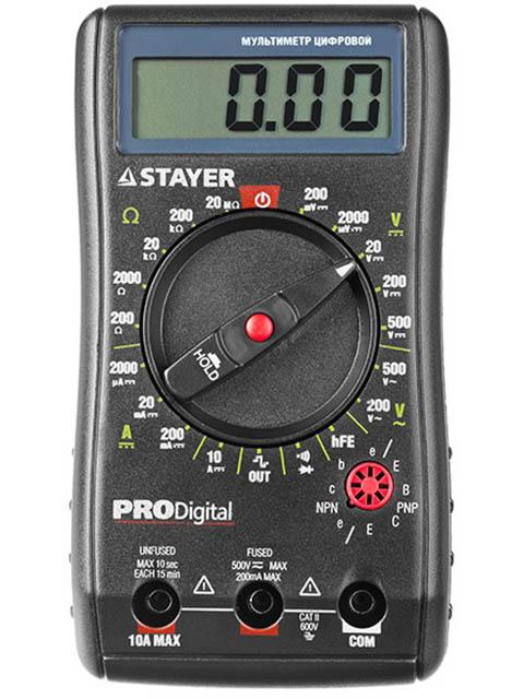 Мультиметр Stayer Professional ProDigital цифровой 45310 мультиметр мастер professional m393