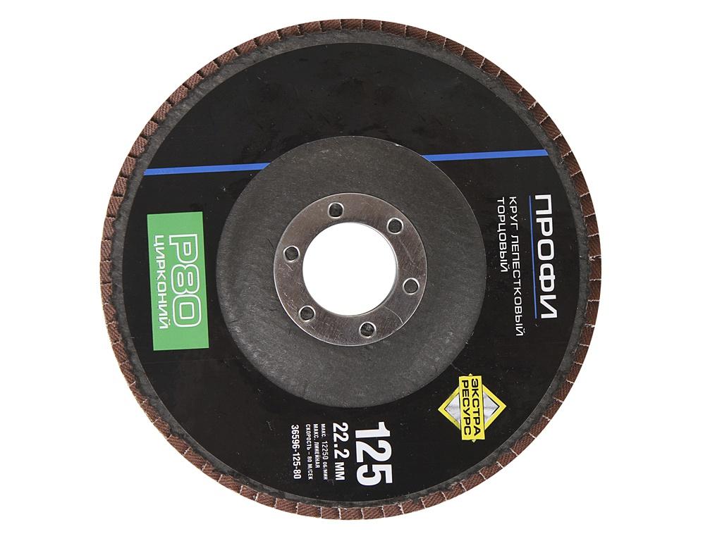 Диск Круг лепестковый Зубр 125x22.2mm 36596-125-80