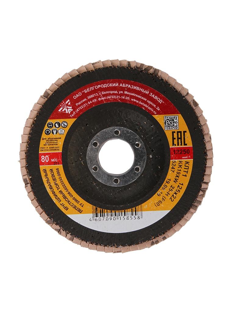 Диск Круг лепестковый Зубр 125x22mm 36563-125-60