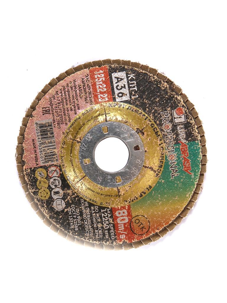 Диск Круг лепестковый Зубр 125x22.2mm 3656-125-80