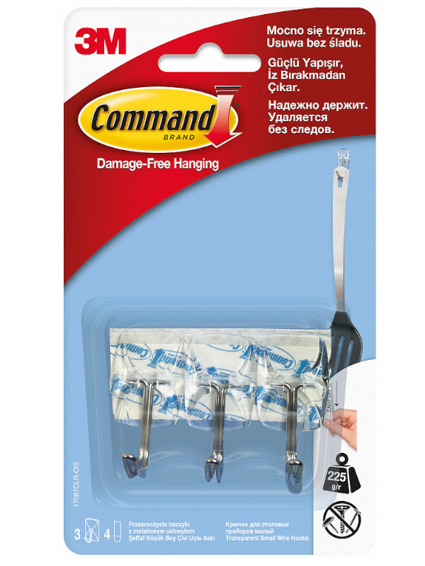 Крючки Command (3шт) 17067CLR