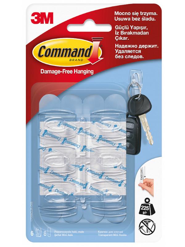 Крючки Command (6шт) 17006CLR Ru