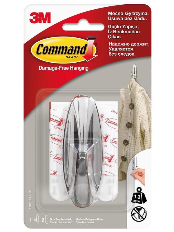 Крючки Command (2шт) 17081CHR