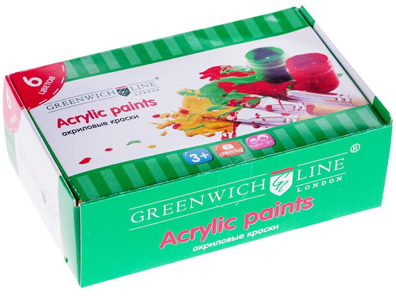 Краски акриловые Greenwich Line 6 цветов 20ml Акр_6725