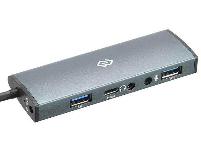 Хаб USB Digma 2 Ports 3.0 Grey HUB-2U3.0CH-UC-G