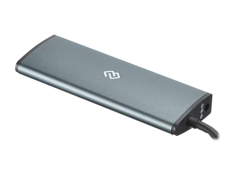 Хаб USB Digma 2 Ports USB 3.0 Grey HUB-2U3.0CAU-UC-G цена