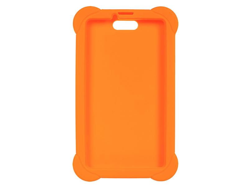 Аксессуар Чехол для Digma Plane 7556 Silicone Orange 1107470