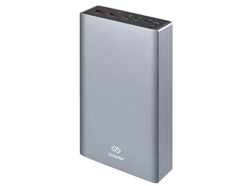 Внешний аккумулятор Digma DG-PD-30000 QC3.0 30000mAh Silver