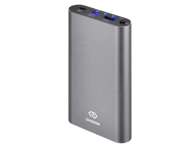 Внешний аккумулятор Digma DG-ME-15000 15000mAh Dark Grey