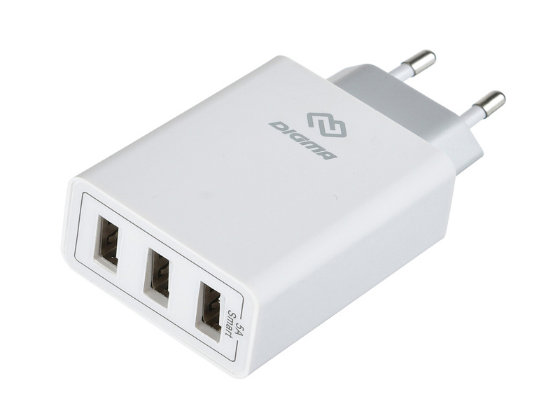 Зарядное устройство Digma 3xUSB 5A White DGWC-3U-5A-WG