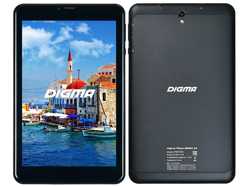 Планшет Digma Plane 8566N 3G Black PS8181MG