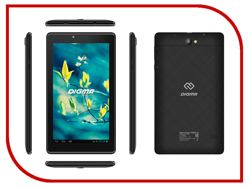 Купить Планшет Digma Plane 7580S 4G Black PS7192PL (Spreadtrum SC9832E 1.4 GHz/1024Mb/16Gb/GPS/3G/Wi-Fi/Bluetooth/Cam/7.0/1280x600/Android)