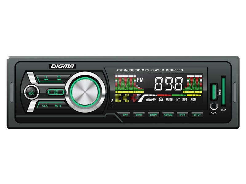 Автомагнитола Digma DCR-360G