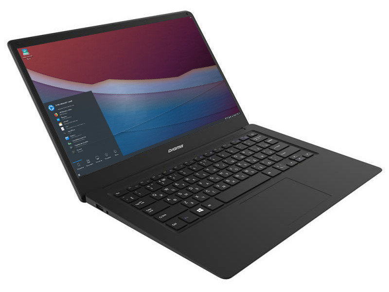 Ноутбук Digma CITI E401 ET4007EW Black 1129607 (Intel Atom x5-Z8350 1.44 GHz/4096Mb/32Gb SSD/Intel HD Grphics/Wi-Fi/Bluetooth/Cam/14.1/1920x1080/Kubuntu)
