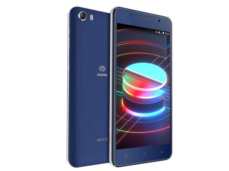 Сотовый телефон Digma Linx X1 3G Dark-Blue сотовый телефон digma vox e502 4g dark blue