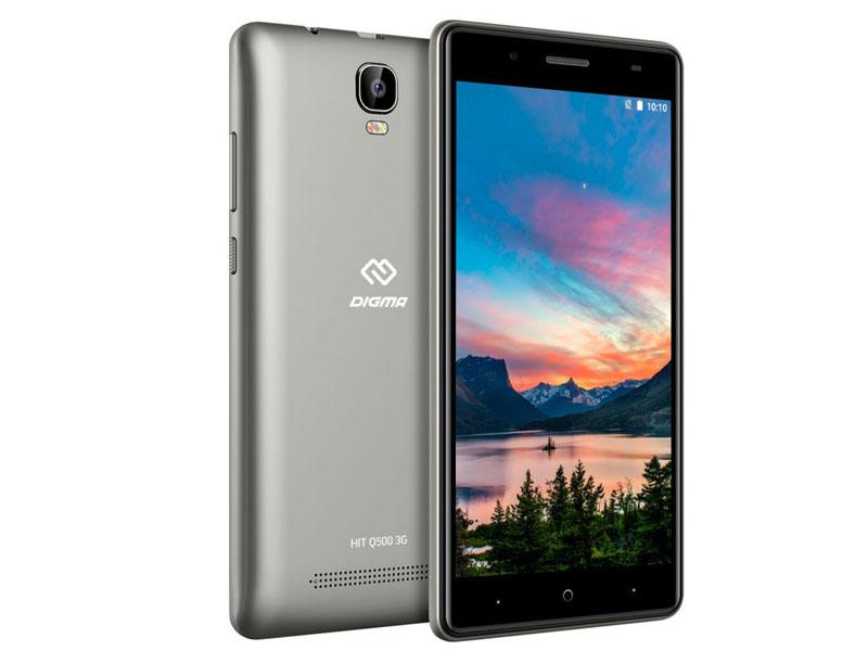 Сотовый телефон Digma HIT Q500 3G Grey мобильный телефон digma hit q500 3g черный