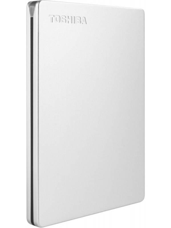 Жесткий диск Toshiba Canvio Slim 2Tb Silver HDTD320ES3EA жесткий диск toshiba canvio alu 2tb black hdth320ek3ca